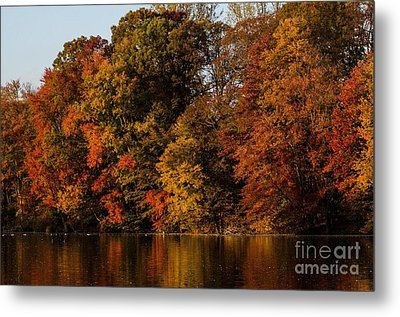 Metal Print featuring the photograph Brinton Lake by Judy Wolinsky