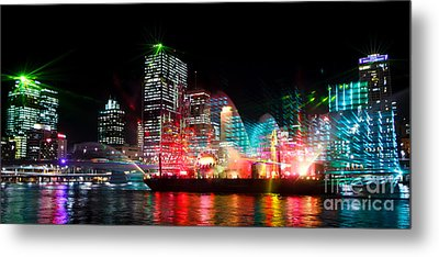 Brisbane City Of Lights Metal Print