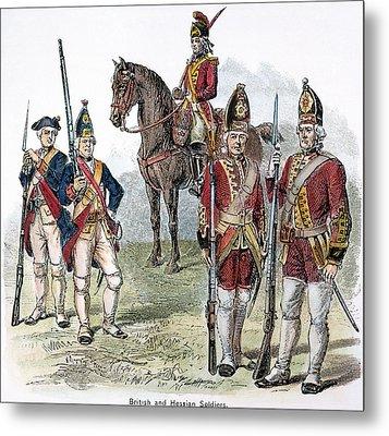 British & Hessian Soldiers Metal Print by Granger
