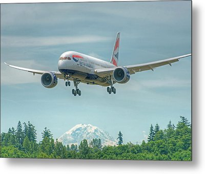 Metal Print featuring the photograph British Airways 787 by Jeff Cook