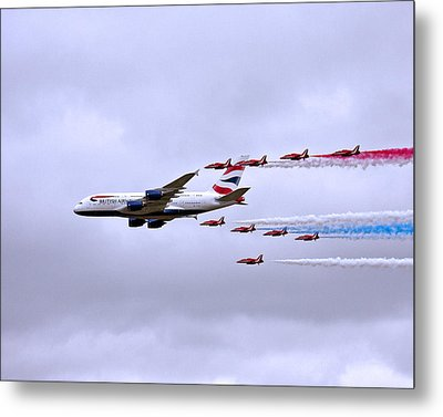 British Airways A380-841 Metal Print by Paul Scoullar