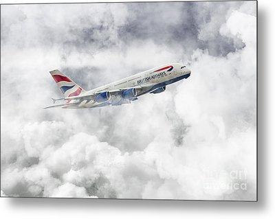 British Airways A380 Metal Print by J Biggadike