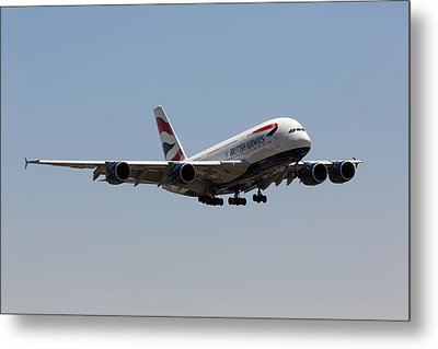 British Airways A380 Metal Print by John Daly
