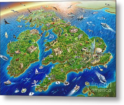 British Isles Metal Print by Adrian Chesterman