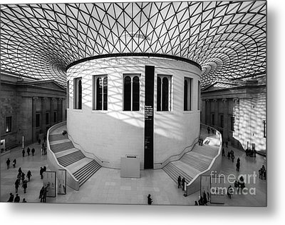 Metal Print featuring the photograph British Museum Black And White by Matt Malloy