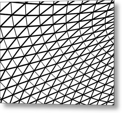 Metal Print featuring the photograph British Museum Geometry by Rona Black