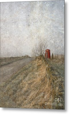 British Phone Box Metal Print by Liz  Alderdice