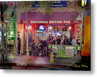 British Pub Metal Print