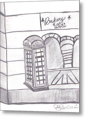 British Telephone Booth   Metal Print by Melissa Vijay Bharwani