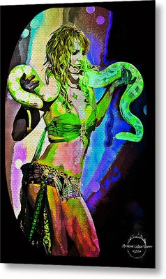 Britney Neon Dancer Metal Print