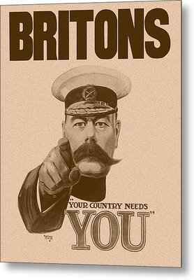 Britons Your Country Needs You  Metal Print by War Is Hell Store