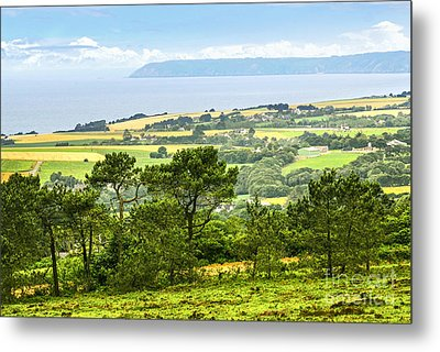 Brittany Landscape With Ocean View Metal Print