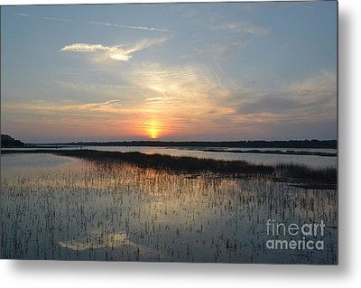 Metal Print featuring the photograph Broad Creek Sunset II by Carol  Bradley