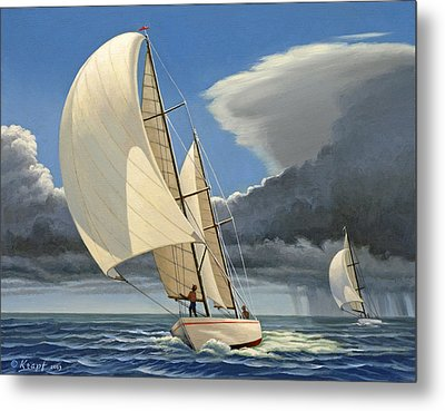 Broad Reach Metal Print by Paul Krapf