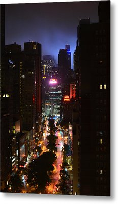Broadway And 72nd Street At Night Metal Print