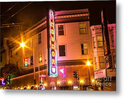 Broadway At Night Metal Print by Suzanne Luft