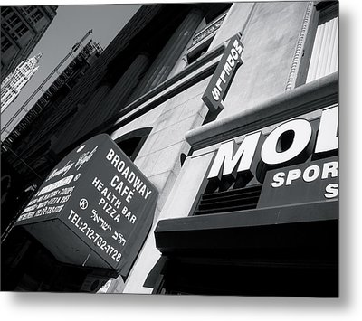 Metal Print featuring the photograph Broadway Cafe by Paul Foutz