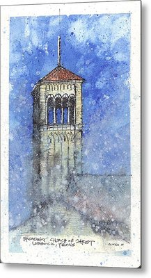 Metal Print featuring the mixed media Broadway Church Tower by Tim Oliver