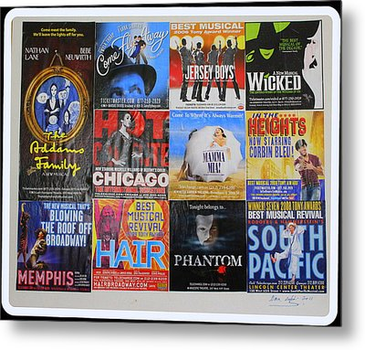 Broadway's Favorites Metal Print by Dora Sofia Caputo Photographic Art and Design