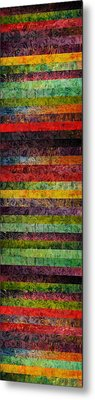 Brocade And Stripes Tower 1.0 Metal Print by Michelle Calkins