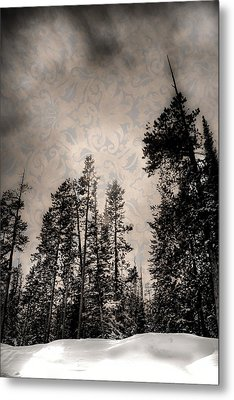 Brocade Sky Metal Print