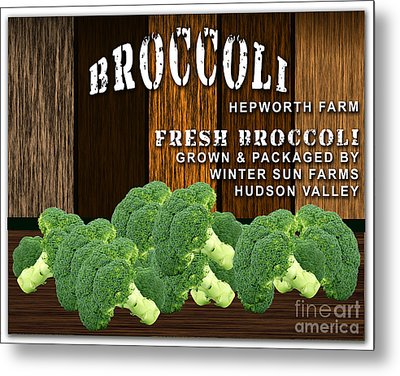 Broccoli Farm Metal Print by Marvin Blaine