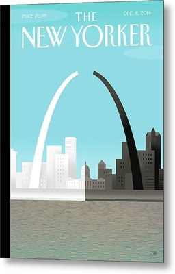Broken Arch. A Scene From St. Louis Metal Print by Bob Staake