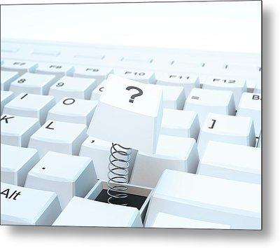 Broken Computer Keyboard Metal Print by Andrzej Wojcicki
