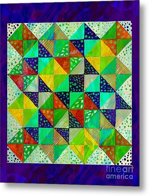 Broken Dishes - Quilt Pattern - Painting 3 Metal Print