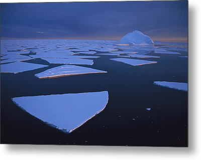 Broken Fast Ice Under Midnight Sun Metal Print by Tui De Roy