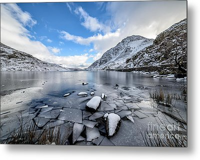 Broken Ice Metal Print by Adrian Evans
