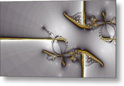 Broken Jewelry-fractal Art Metal Print by Lourry Legarde