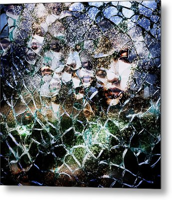 Broken Mind Metal Print by Azuto