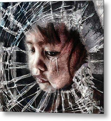 Broken Metal Print by Mo T