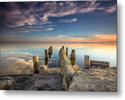 Metal Print featuring the photograph Broken Pier by Robert  Aycock
