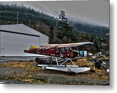 Metal Print featuring the pyrography Broken Plane by Timothy Latta