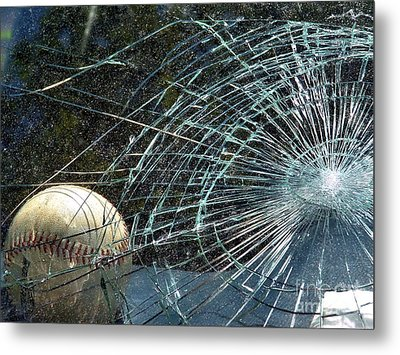 Metal Print featuring the photograph Broken Window by Robyn King