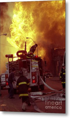 Metal Print featuring the photograph Bronx Gas Explosion-1 by Steven Spak