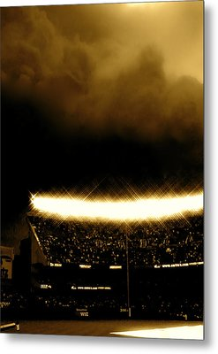 Bronx Storm Yankee Stadium  Metal Print by Iconic Images Art Gallery David Pucciarelli