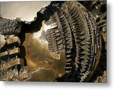 Bronze Abstract Metal Print by Stuart Litoff