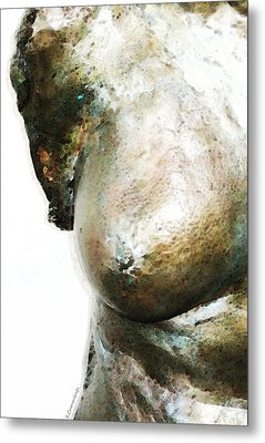 Bronze Bust 1 Metal Print by Sharon Cummings