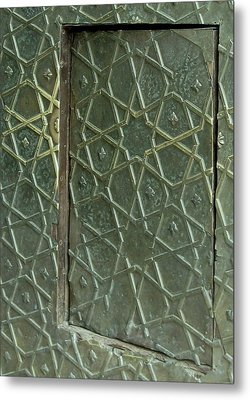 Bronze Door In A Door Metal Print