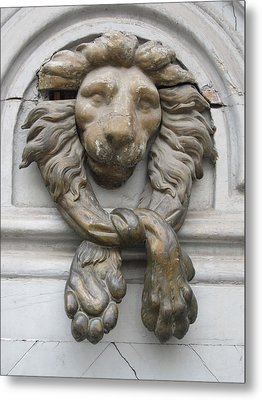 Metal Print featuring the photograph Bronze Lion by Pema Hou