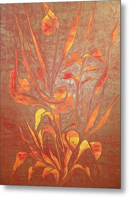Metal Print featuring the painting Bronze by Nico Bielow
