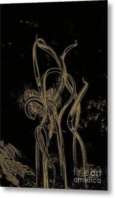 Bronze Rainforest  Metal Print by Edna Weber