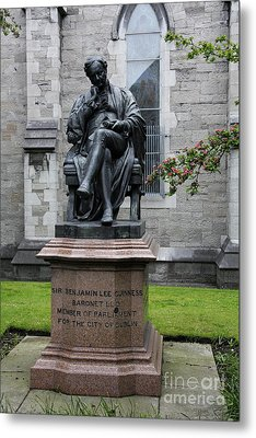 Bronze Statue Of Sir Benjamin Lee Guinness  Metal Print by Christiane Schulze Art And Photography