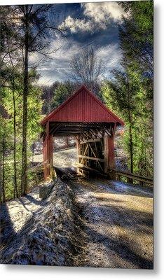 Sterling Covered Bridge - Stowe Vermont Metal Print by Joann Vitali