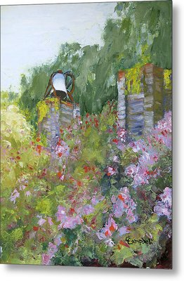 Brookgreen Old Kitchen Bell Metal Print by Cecelia Campbell