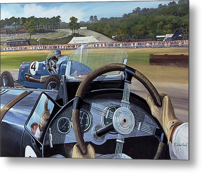 Brooklands - From The Hot Seat Metal Print by Richard Wheatland