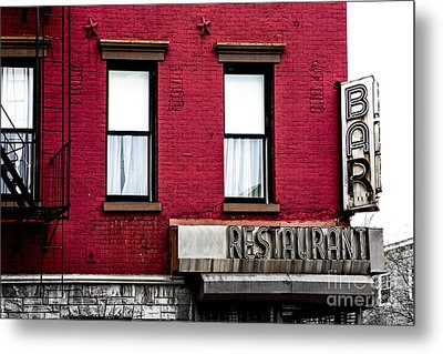 Brooklyn Bar Metal Print by Diane Diederich